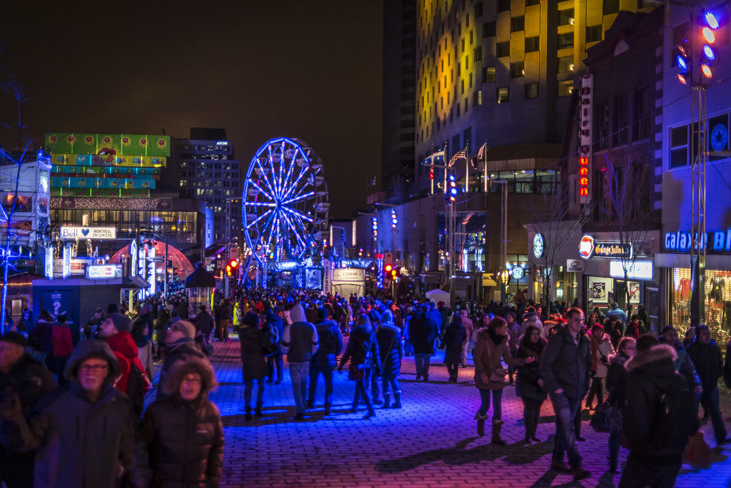 vida noturna montreal no inverno
